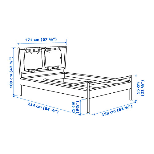 BJÖRKSNÄS - bed frame, birch | IKEA Hong Kong and Macau - PE747548_S4