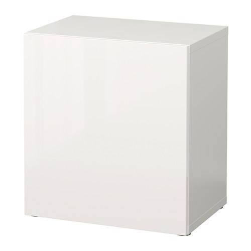 BESTÅ - shelf unit with door, white/Selsviken high-gloss/white | IKEA Hong Kong and Macau - PE537157_S4