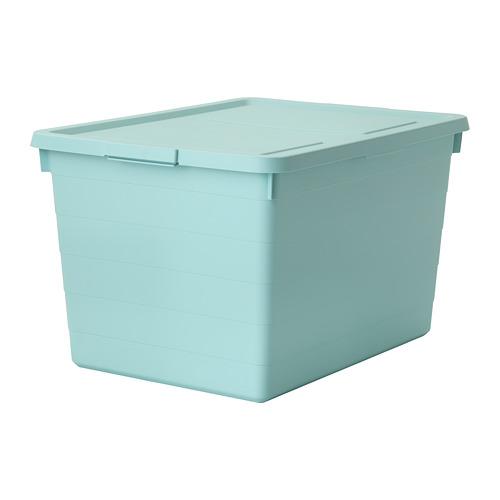 SOCKERBIT - storage box with lid, light blue | IKEA Hong Kong and Macau - PE707759_S4