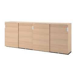 GALANT - 貯物組合連趟門, 染白橡木飾面 | IKEA 香港及澳門 - PE707766_S3