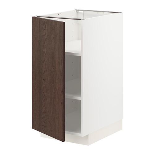 METOD - 地櫃連層板, 白色/Sinarp 褐色   IKEA 香港及澳門 - PE802399_S4