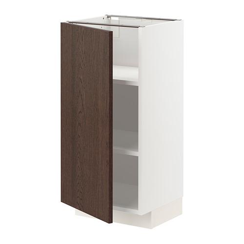 METOD - 地櫃連層板, 白色/Sinarp 褐色 | IKEA 香港及澳門 - PE802294_S4