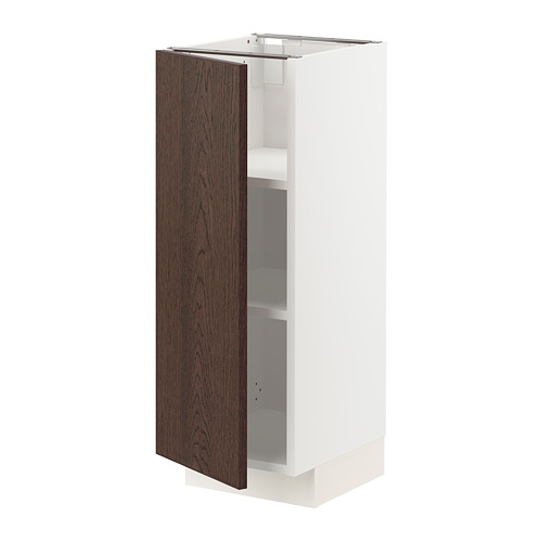 METOD - base cabinet with shelves, white/Sinarp brown | IKEA Hong Kong and Macau - PE802296_S4