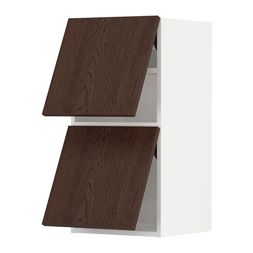 METOD - wall cab horizo 2 doors w push-open, white/Sinarp brown | IKEA Hong Kong and Macau - PE802393_S4