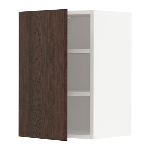 METOD - wall cabinet with shelves, white/Sinarp brown | IKEA Hong Kong and Macau - PE802327_S4