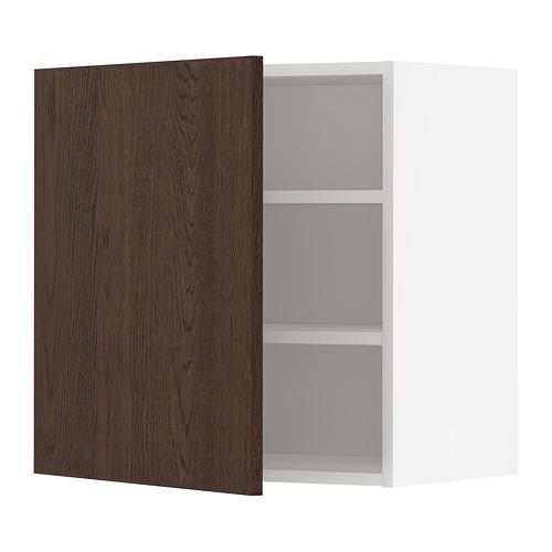 METOD - 吊櫃連層板, 白色/Sinarp 褐色 | IKEA 香港及澳門 - PE802328_S4