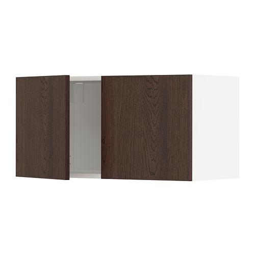 METOD - wall cabinet with 2 doors, white/Sinarp brown | IKEA Hong Kong and Macau - PE802394_S4