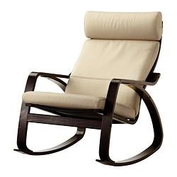 POÄNG - rocking-chair, black-brown/Glose eggshell | IKEA Hong Kong and Macau - PE311392_S3