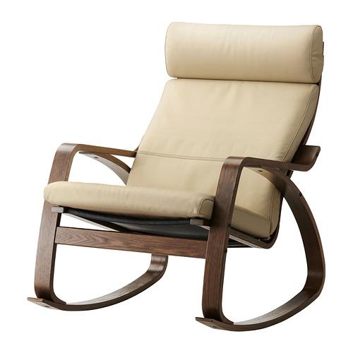 POÄNG - rocking-chair, brown/Glose eggshell | IKEA Hong Kong and Macau - PE311394_S4