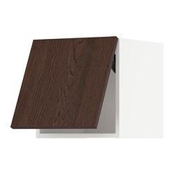 METOD - wall cabinet horizontal w push-open, white/Sinarp brown | IKEA 香港及澳門 - PE802334_S3