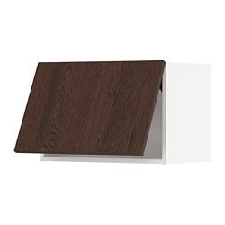 METOD - wall cabinet horizontal w push-open, white/Sinarp brown | IKEA 香港及澳門 - PE802395_S3