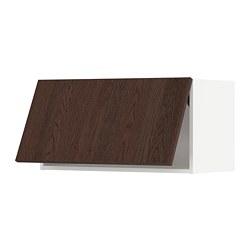 METOD - wall cabinet horizontal w push-open, white/Sinarp brown | IKEA 香港及澳門 - PE802335_S3