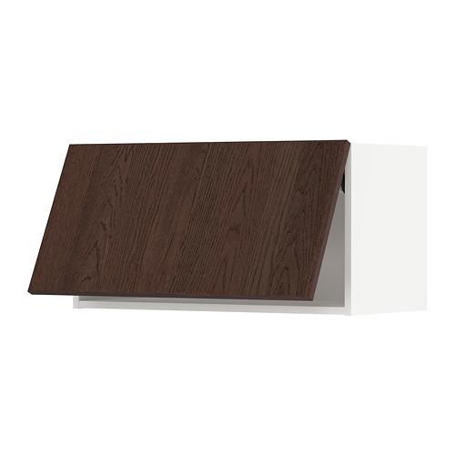 METOD - wall cabinet horizontal w push-open, white/Sinarp brown | IKEA Hong Kong and Macau - PE802335_S4