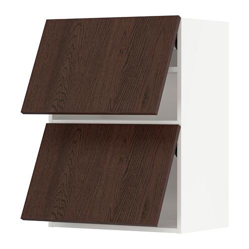 METOD - wall cabinet horizontal w 2 doors, white/Sinarp brown | IKEA Hong Kong and Macau - PE802336_S4