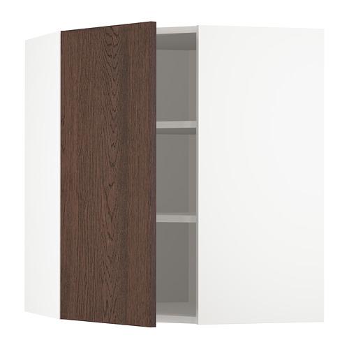 METOD - 角位吊櫃連層板, 白色/Sinarp 褐色 | IKEA 香港及澳門 - PE802339_S4