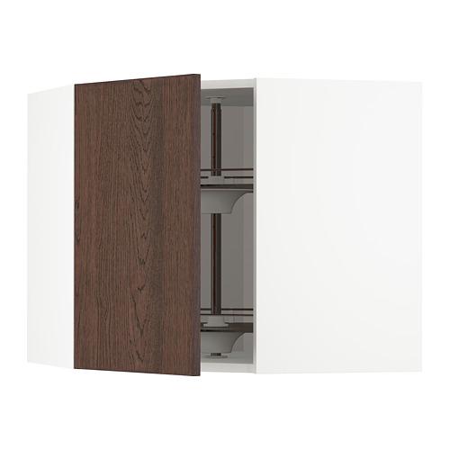 METOD - 角位吊櫃連旋轉盤, white/Sinarp brown   IKEA 香港及澳門 - PE802341_S4