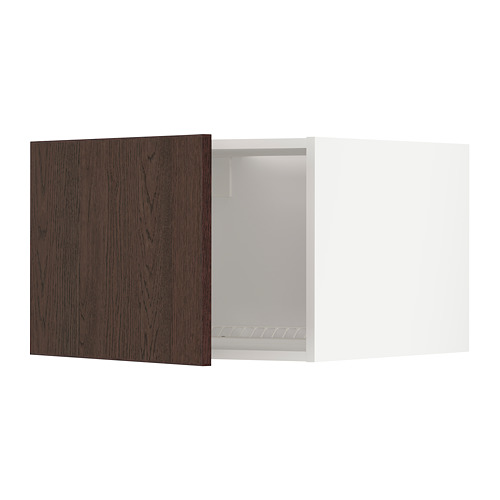METOD - 雪櫃/冰箱用頂櫃, white/Sinarp brown | IKEA 香港及澳門 - PE802478_S4