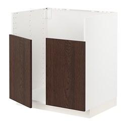 METOD - BREDSJÖN雙星盆底櫃, white/Sinarp brown | IKEA 香港及澳門 - PE802489_S3