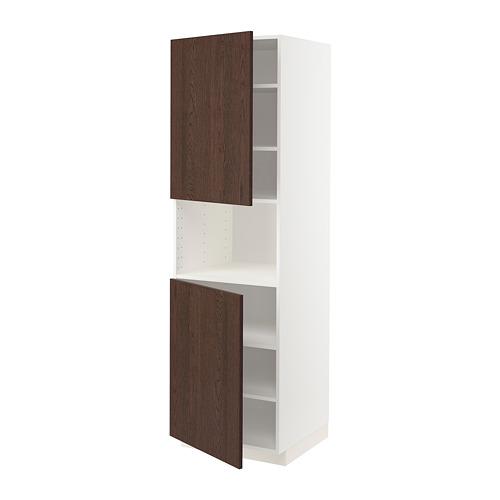 METOD high cab f micro w 2 doors/shelves