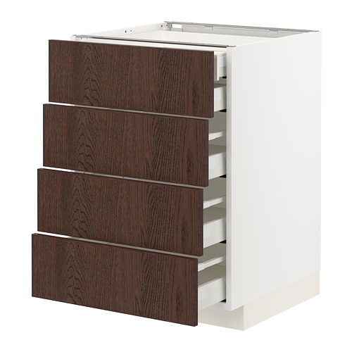 METOD/MAXIMERA - base cb 4 frnts/2 low/3 md drwrs, white/Sinarp brown | IKEA Hong Kong and Macau - PE802400_S4