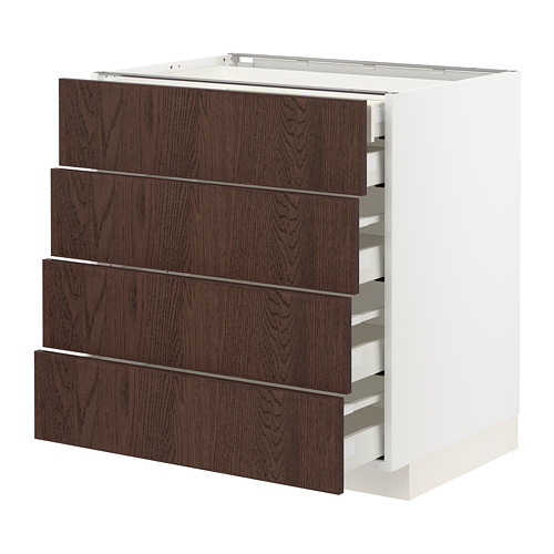 METOD/MAXIMERA - base cb 4 frnts/2 low/3 md drwrs, white/Sinarp brown | IKEA Hong Kong and Macau - PE802476_S4