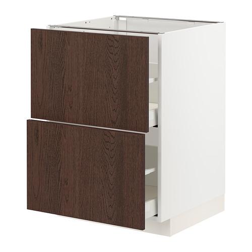 METOD/MAXIMERA - base cb 2 fronts/2 high drawers, white/Sinarp brown | IKEA Hong Kong and Macau - PE802375_S4