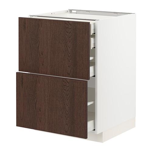 METOD/MAXIMERA - 地櫃組合, 白色/Sinarp 褐色 | IKEA 香港及澳門 - PE802376_S4
