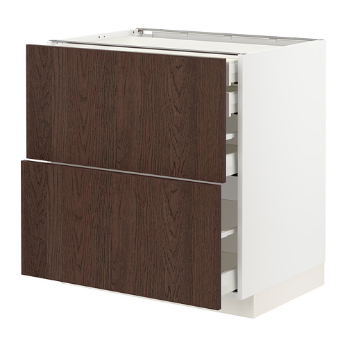 METOD/MAXIMERA - base cb 2 frnts/2 low/1 md/1 hi drw, white/Sinarp brown | IKEA Hong Kong and Macau - PE802377_S4