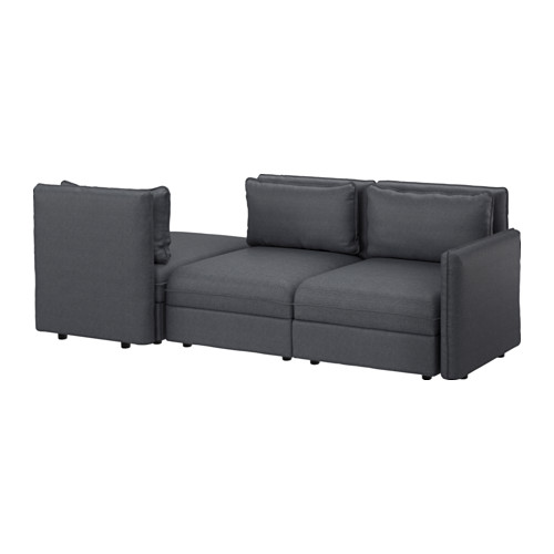 VALLENTUNA - 3-seat modular sofa with sofa-bed, with storage Hillared/dark grey | IKEA Hong Kong and Macau - PE602346_S4