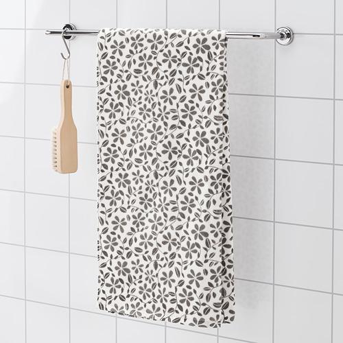JUVELBLOMMA - 浴巾, 白色/灰色 | IKEA 香港及澳門 - PE747593_S4