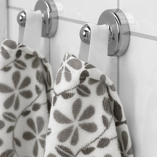 JUVELBLOMMA - 浴巾, 白色/灰色 | IKEA 香港及澳門 - PE747594_S4