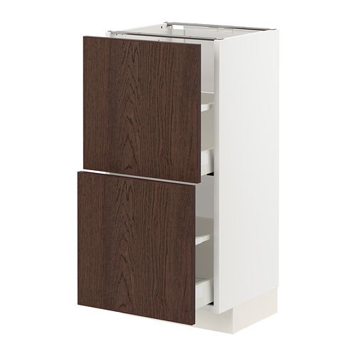 METOD/MAXIMERA - base cabinet with 2 drawers, white/Sinarp brown | IKEA Hong Kong and Macau - PE802391_S4