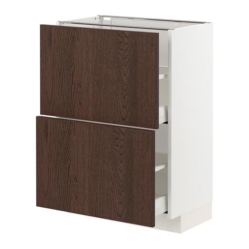 METOD/MAXIMERA - base cabinet with 2 drawers, white/Sinarp brown | IKEA Hong Kong and Macau - PE802392_S4