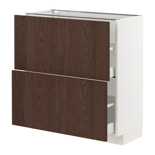 METOD/MAXIMERA - base cabinet with 2 drawers, white/Sinarp brown | IKEA Hong Kong and Macau - PE802297_S4