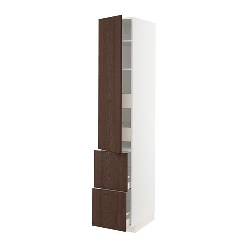 METOD/MAXIMERA - 高櫃組合, 白色/Sinarp 褐色   IKEA 香港及澳門 - PE802408_S4