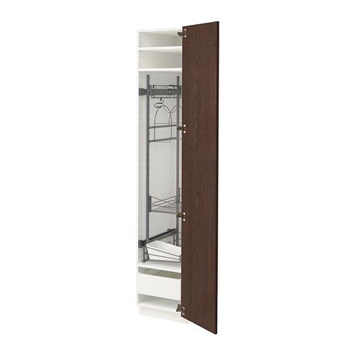 METOD/MAXIMERA - 高櫃連清潔用品櫃內配件, white/Sinarp brown   IKEA 香港及澳門 - PE802409_S4