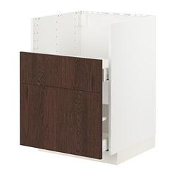 METOD/MAXIMERA - BREDSJÖN星盆用地櫃/2面板/2抽屜, white/Sinarp brown | IKEA 香港及澳門 - PE802412_S3