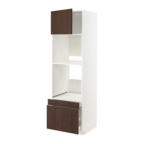 METOD/MAXIMERA - 焗爐用高櫃組合, white/Sinarp brown | IKEA 香港及澳門 - PE802415_S4