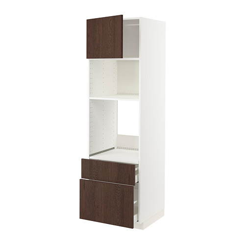 METOD/MAXIMERA - high cab f oven/micro w dr/2 drwrs, white/Sinarp brown | IKEA Hong Kong and Macau - PE802500_S4