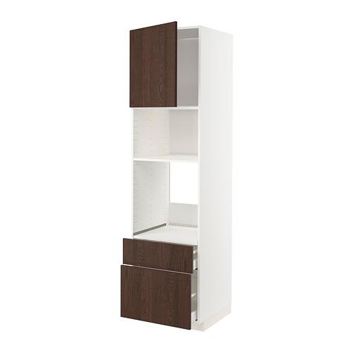 METOD/MAXIMERA - high cab f oven/micro w dr/2 drwrs, white/Sinarp brown | IKEA Hong Kong and Macau - PE802372_S4