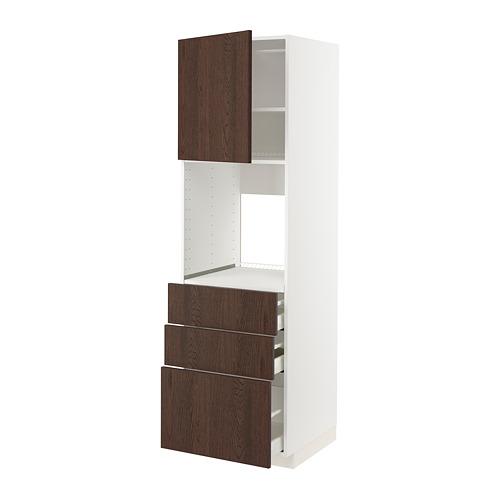 METOD/MAXIMERA high cab f oven w door/3 drawers