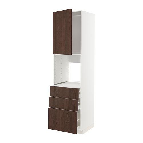 METOD/MAXIMERA - 焗爐用高櫃組合, white/Sinarp brown | IKEA 香港及澳門 - PE802359_S4