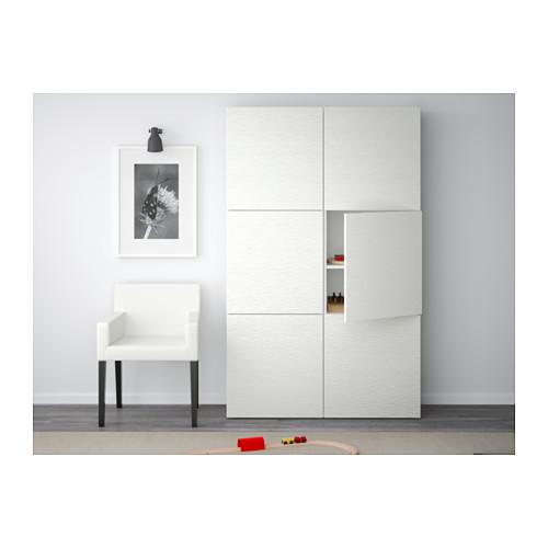 BESTÅ - storage combination with doors, Laxviken white | IKEA Hong Kong and Macau - PE536955_S4