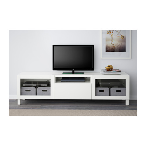 BESTÅ - TV bench, Lappviken/Sindvik white clear glass | IKEA Hong Kong and Macau - PE536844_S4