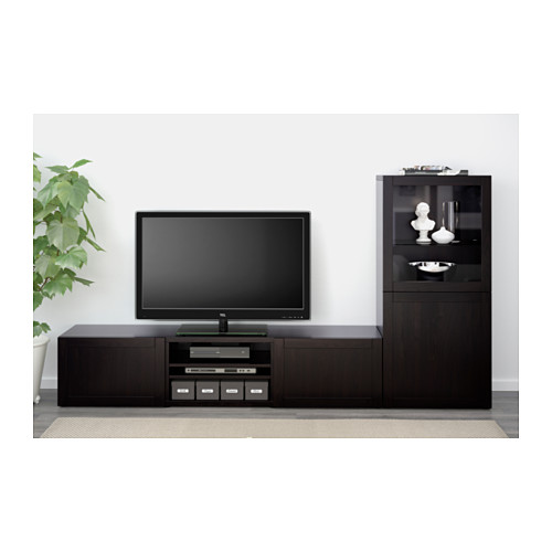 BESTÅ - 電視貯物組合/玻璃門, Hanviken 棕黑色/透明玻璃 | IKEA 香港及澳門 - PE536755_S4