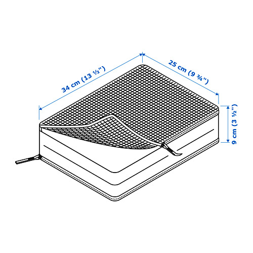 RENSARE - 衣物收納袋連間隔, 方格圖案/白色 | IKEA 香港及澳門 - PE747705_S4
