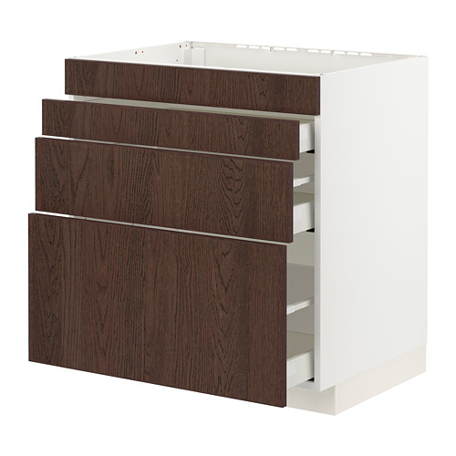 METOD/MAXIMERA base cab f hob/4 fronts/3 drawers