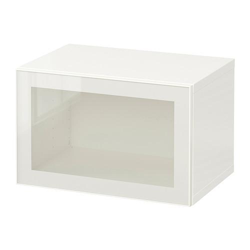 BESTÅ - 上牆式貯物組合, white/Glassvik white/clear glass   IKEA 香港及澳門 - PE847237_S4