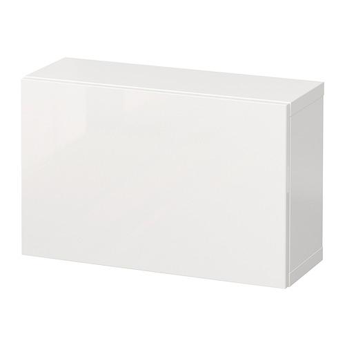 BESTÅ - 上牆式貯物組合, white/Selsviken high-gloss/white | IKEA 香港及澳門 - PE847247_S4