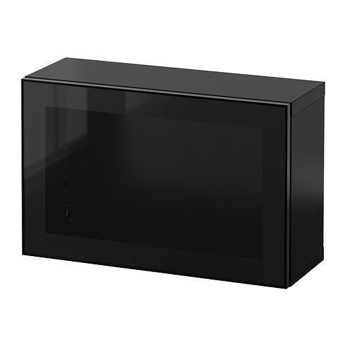 BESTÅ - 上牆式貯物組合, black-brown Glassvik/black clear glass | IKEA 香港及澳門 - PE847270_S4